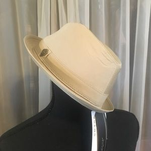Beige Panama-type Hat NWT Small/Med.